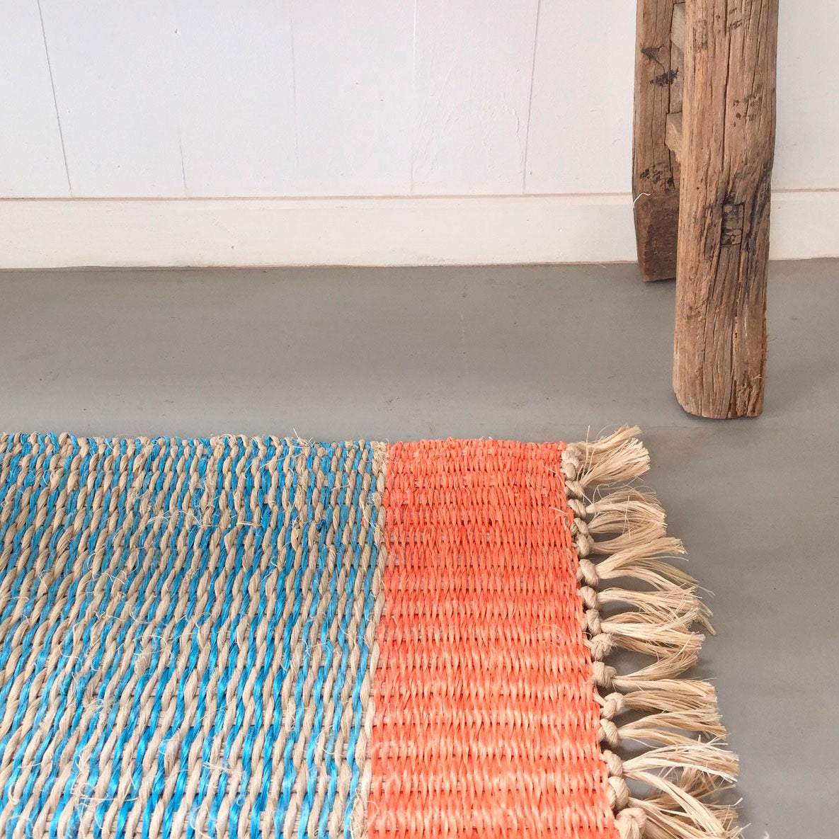 100% recycled plastic rope rugs