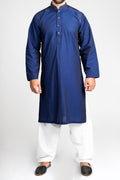 Burooj Men's Embellished Navy Blue  Kurta / Kameez