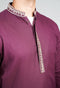 Burooj Men's Plum Jacquard Kurta Slim Fit
