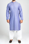 Burooj Men's  Blue Casual  Kurta