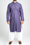 Burooj Men's two tone Purple Kurta