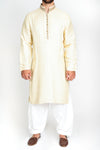 Burooj Men's Cream FormalKurta