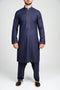 Burooj Men's Shalwar Kameez Formal Navy Blue Slim Fit