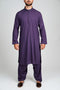 Burooj Men's Purple Shalwar Kameez 2pc