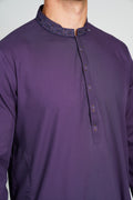 BUROOJ mens Purple Shalwar Kameez