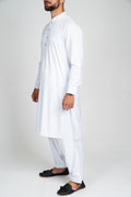 Burooj Men's Pure White  Shalwar Kameez