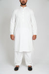Burooj Men's Shalwar Kameez Classic off white Colour 2 piece