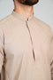 Burooj Men's Shalwar Kameez Classic Sand Colour 2 piece