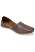 Burooj Men's Brown Pebble Leather Kussah