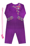 Girls Purple Shalwar Kameez 3pc