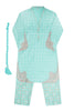 Girls Turquoise Trouser Suit 3pc