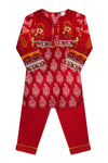 Girls Red Kameez Trouser 2pc