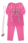 Girls Pink Kameez Trouser Dupata 3pc