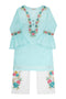 Girls Mint Kameez Trouser 2pc