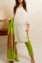 Burooj Ladies off-white 3pc Trouser suit