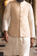 Burooj Men's Signature Collection Cream / Gold waistcoat