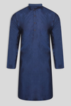 Burooj Men's Navy Blue Casual Kurta