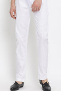 Men's off-white Cotton Silk Trouser