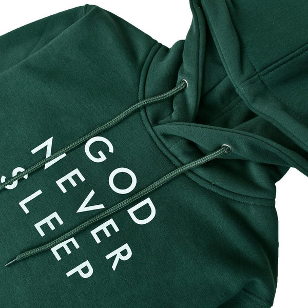 Sweater Hoodie God Never Sleep