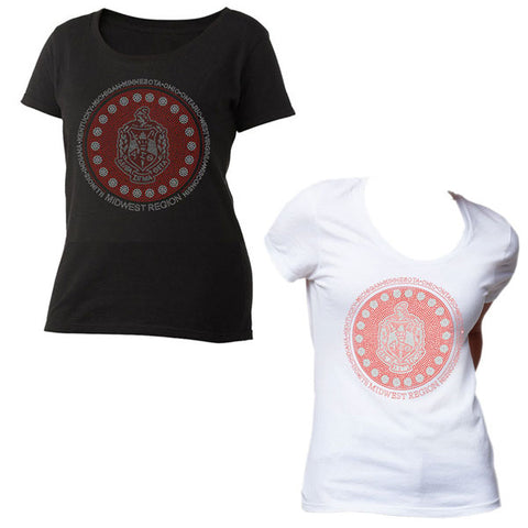 DST Midwest Region Bling Scoop-Neck T-Shirt*