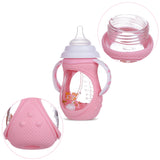 Wide-caliber feeding bottle 240 ml - KiddieWorld
