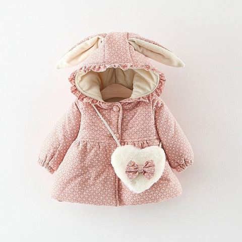 Jacket with a hood for the girl Rabbit Ears - KiddieWorld