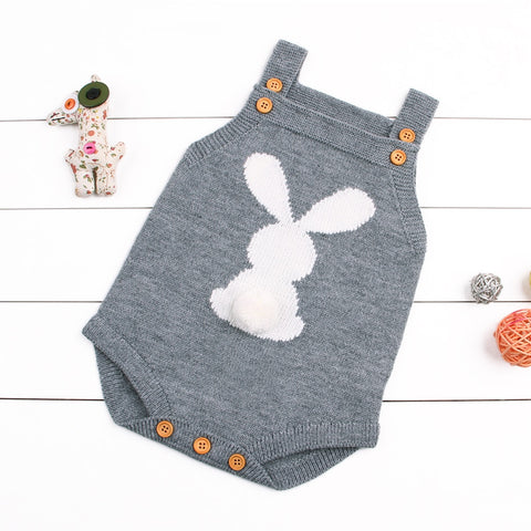 Cute rabbit kids sleeveless jumpsuit - KiddieWorld