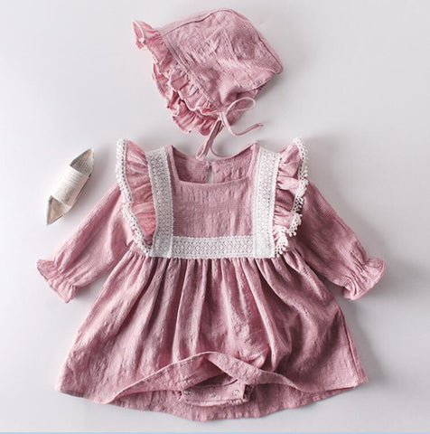 Vintage dress - jumpsuit for a newborn - KiddieWorld