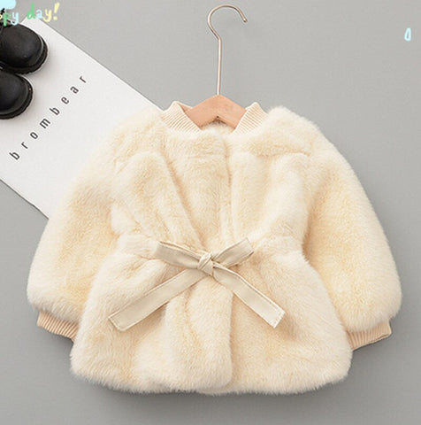 Faux Fur Cardigan - KiddieWorld
