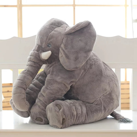 PLUSH ELEPHANT PILLOW TOY 40cm - KiddieWorld