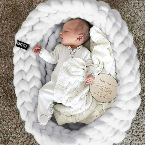 knitted baby cot - cradle for newborns - KiddieWorld