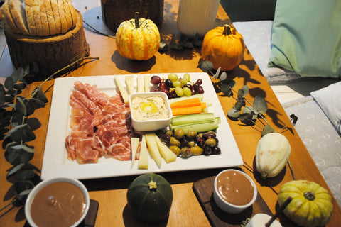 Halloween Parents Platter and chocolate mousse