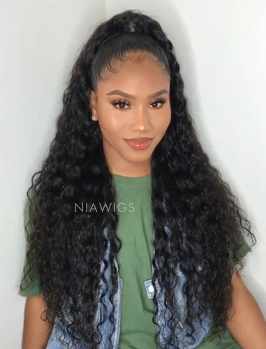 Loose Curly Human Hair Lace Front Wigs With Natural Hairline