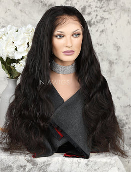 Body Wave Human Hair Full Lace Wigs With Baby Hair