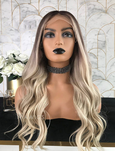 Laura||Virgin Hair 22 Inches Glueless Full Lace Wig Balayage