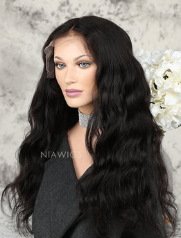 Silk Base Natural Wave Human Hair Lace Front Wigs
