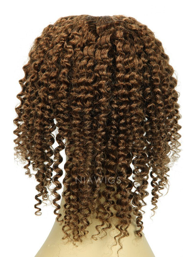 Load image into Gallery viewer, Kinky Curly Upart Wigs #8 Ash Brown Human Hair U Part Wig