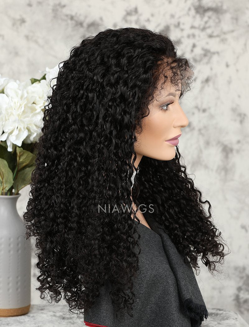 Load image into Gallery viewer, Silk Base 2020 Best Selling Curly Human Hair Full Lace Wigs