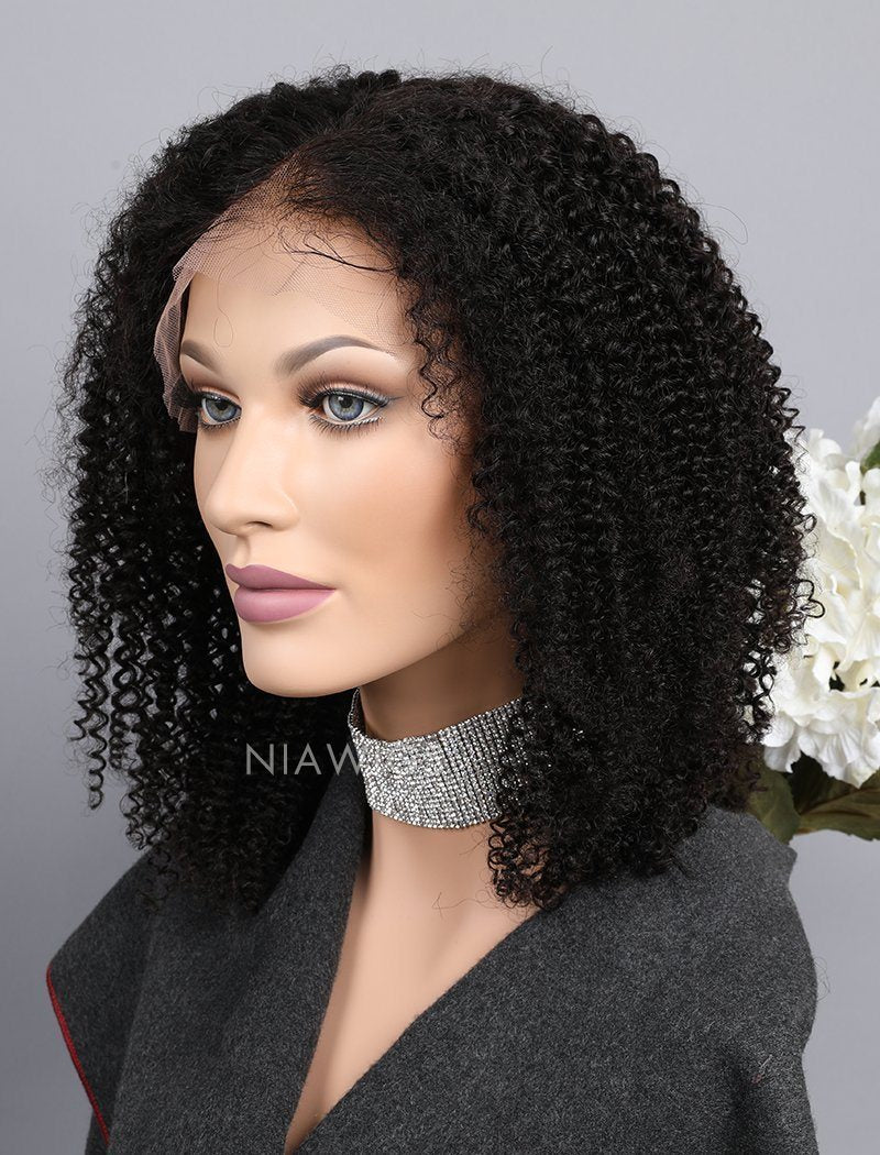 Load image into Gallery viewer, Kinky Curly Human Hair Full Lace Wigs With Middle Parting