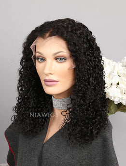 Silk Base Curly Human Hair Lace Front Wig With Baby Hair