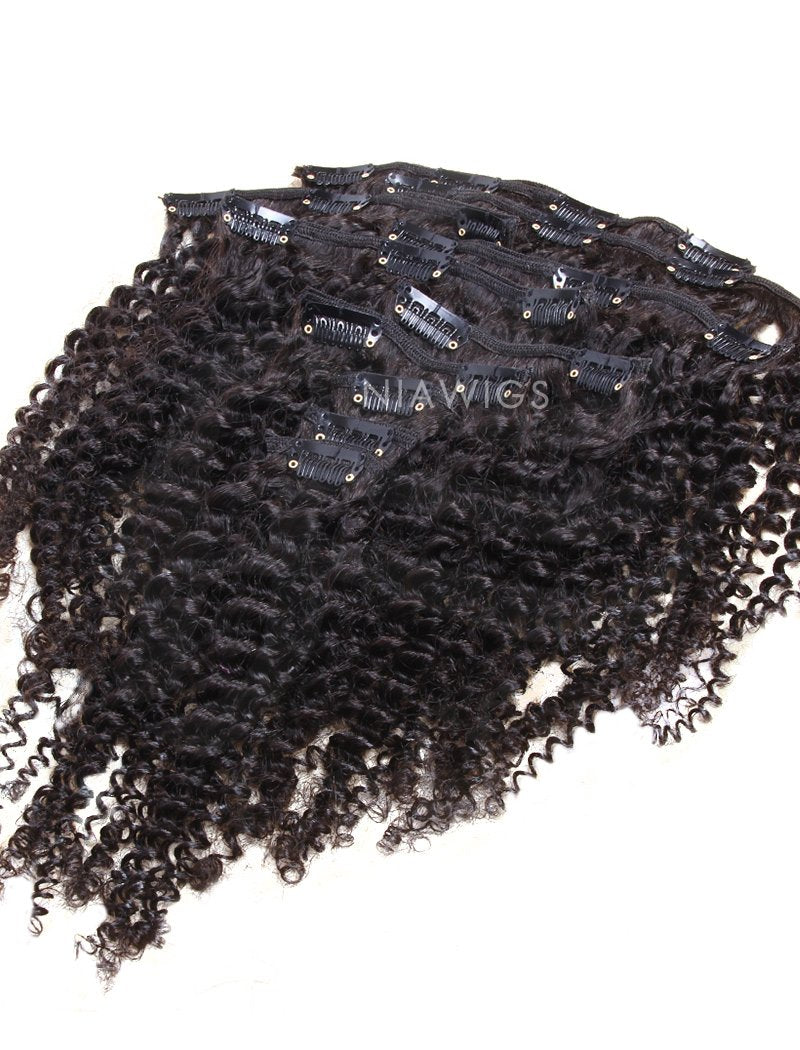 Load image into Gallery viewer, Clip-In Hair Extensions Brazilian Hair Kinky Curly