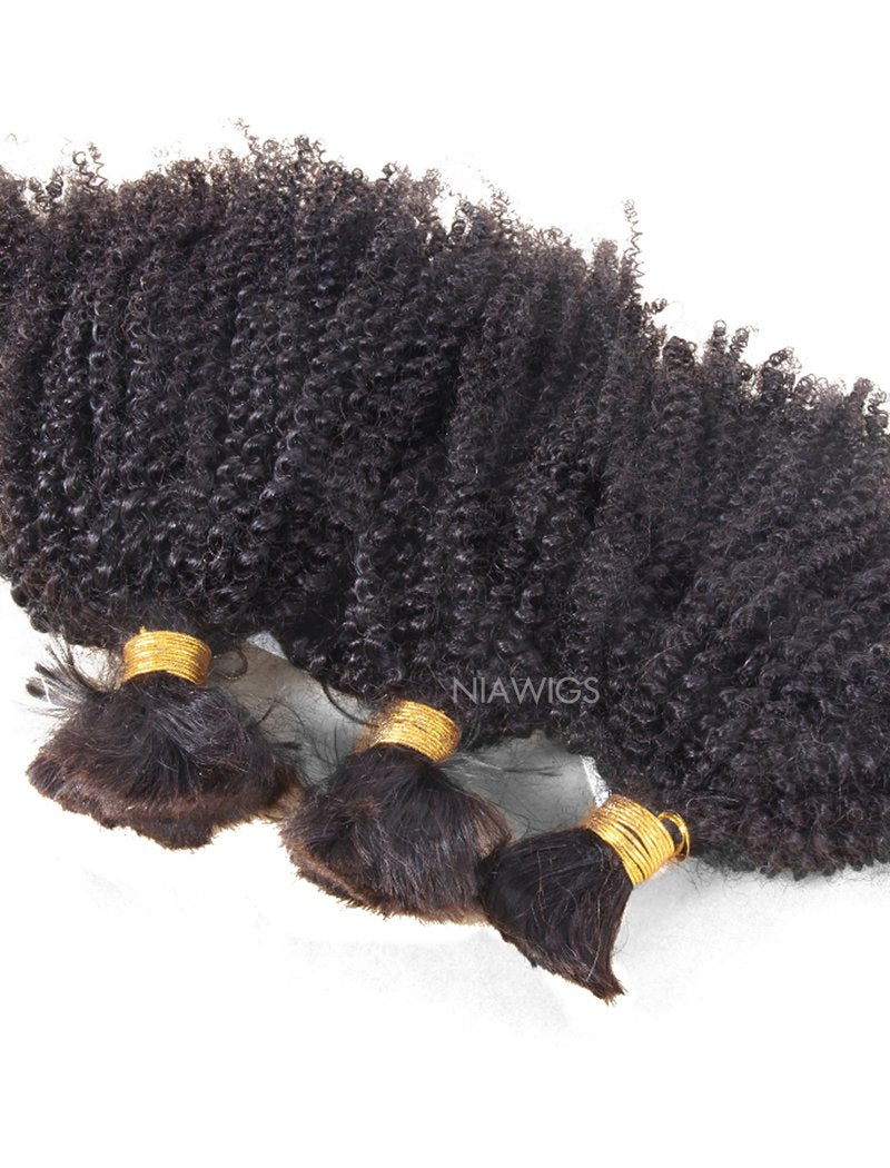 Load image into Gallery viewer, Bulk Human Hair for Braiding Kinky Curly Brazilian Hair