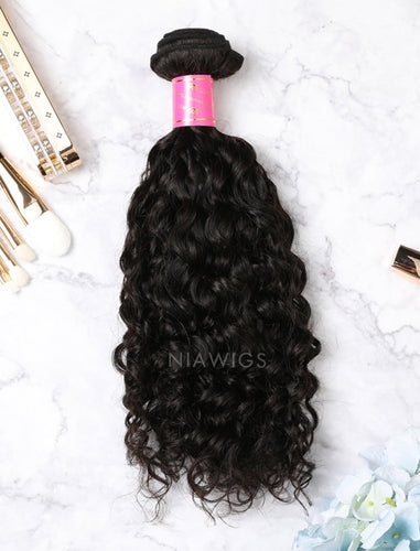 Hair Weft Bundles Natural Color Brazilian Curly Human Hair