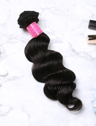 Hair Weft Bundles Natural Color Brazilian Loose Deep Human Hair