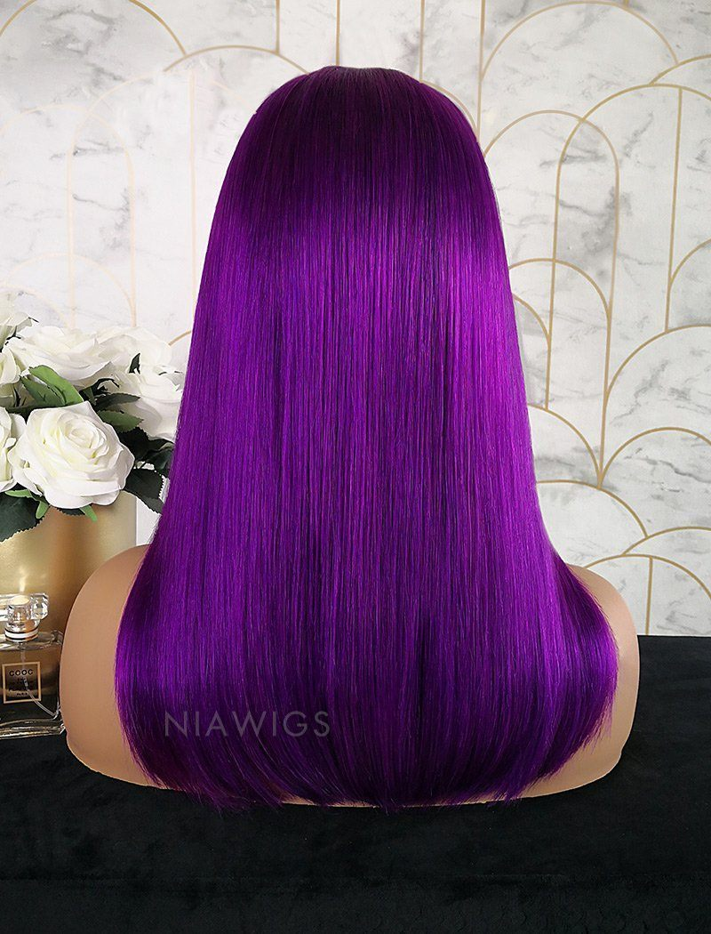 Load image into Gallery viewer, Paulina||Remy Hair 16 Inches Lace Front Wig Bright Purple