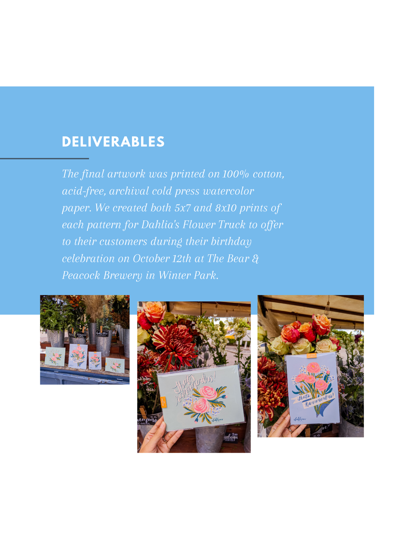 Curated Dry Goods and Dahlia's Flower Truck Collaboration