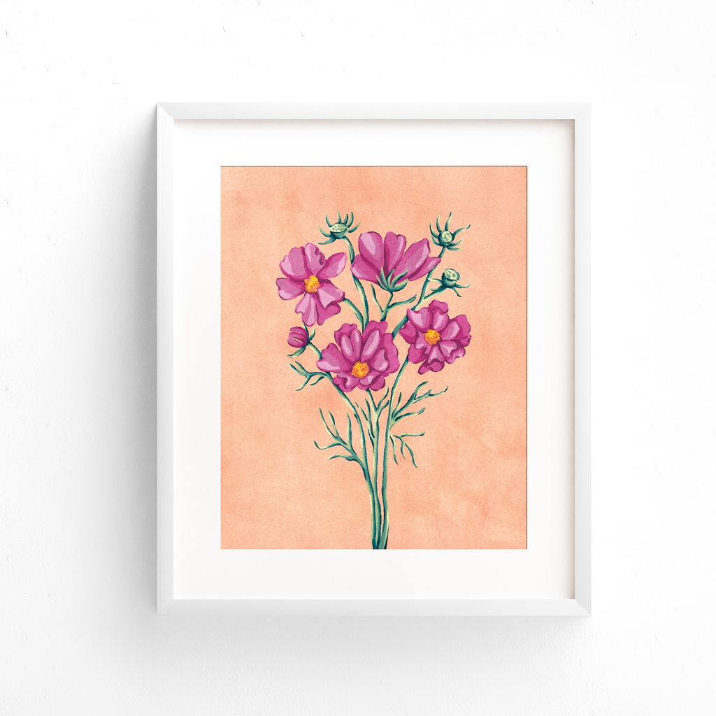 Cosmos Floral Art Print