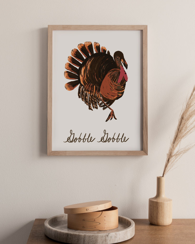 Gobble Gobble Turkey Digital Art Print