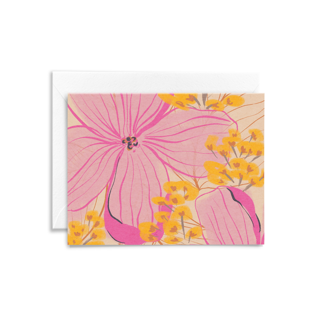 Grow Like Flowers Notecard in Blush Citrus