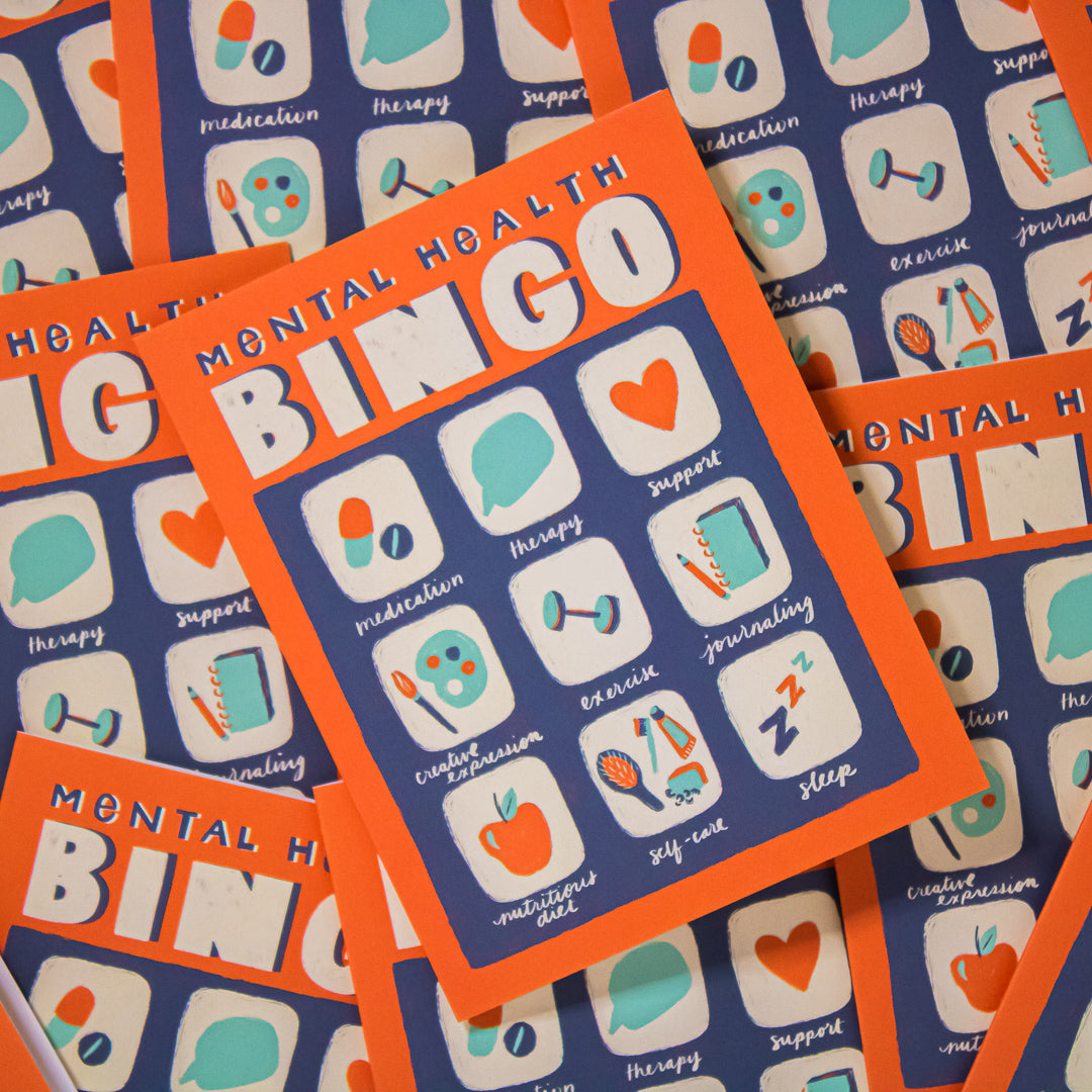 Mental Health BINGO Greeting Card set